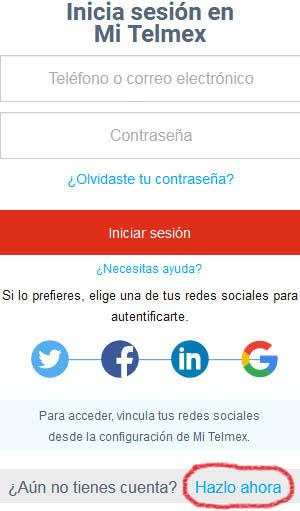 Registro en Telmex