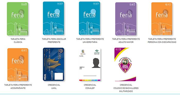 Imágenes de las tarjetas FERIA