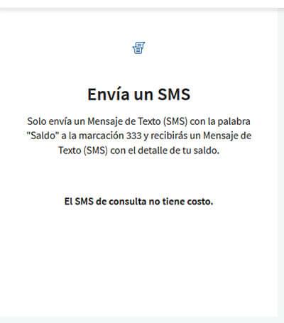 Saldo por SMS