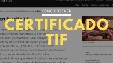 Certificación TIF
