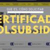 Certificado Colsubsidio