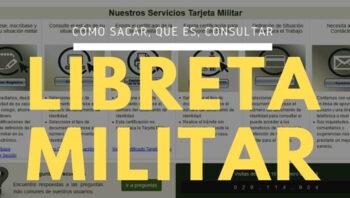 Libreta militar en Colombia