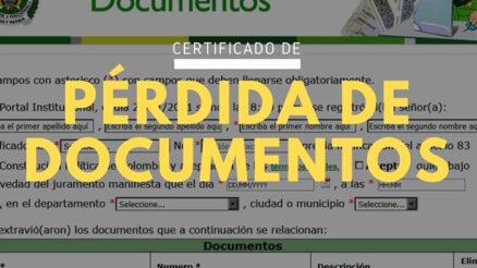 Pérdida de documentos en Colombia