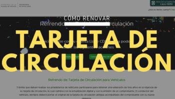 Renovación de tarjeta de circulación CDMX