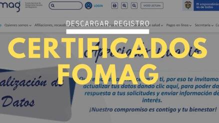 Certificados Fomag