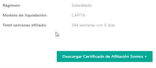 Descargar Certificado de Afiliación Somos +