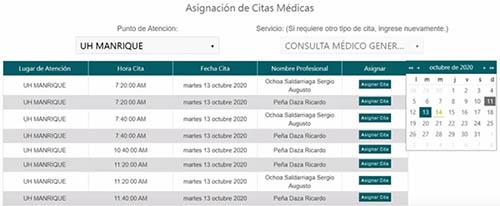 Selección de centro médico en Savia Salud