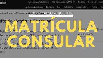 Certificado de matrícula consular
