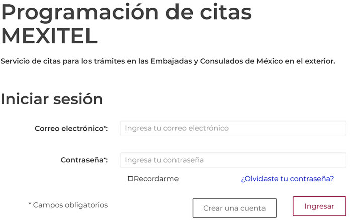Citas en MEXITEL para scar el certificado de la matrícula consular