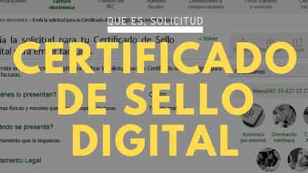 Certificado de Sello Digital