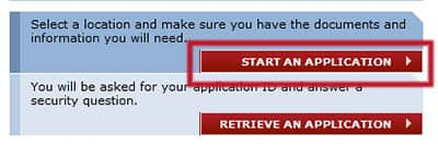 Iniciar una solicitud del formulario DS-160