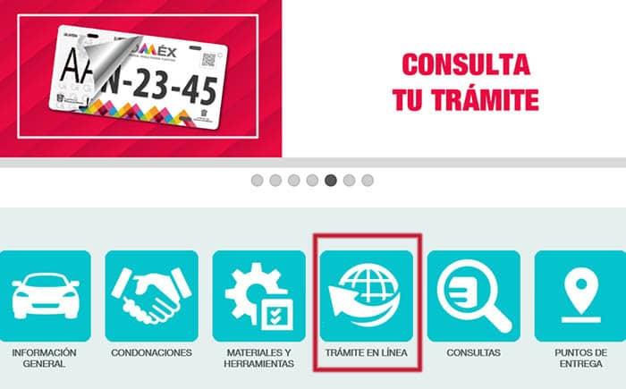 Trámites online en la web del Programa de Reemplacamiento EDOMEX
