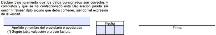 Firma del formulario 1057