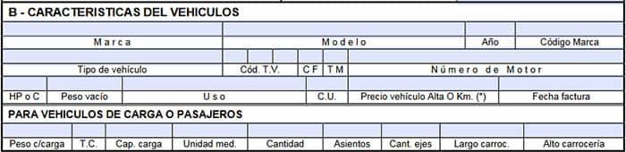 Rubro B del formulario 1057