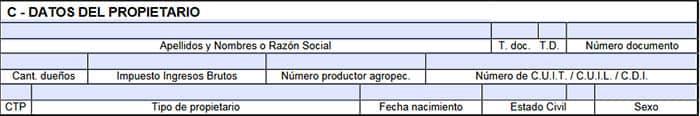Rubro C del formulario 1057