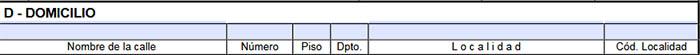 Rubro D del formulario 1057