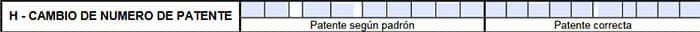 Rubro H del formulario 1057