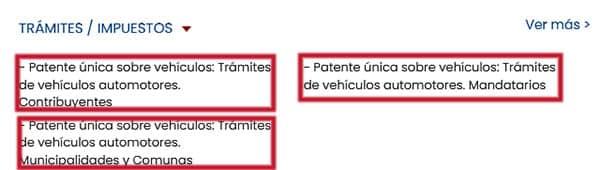 Trámites e impuestos en el formulario 1057
