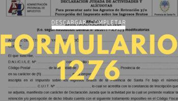 ¿Qué es el formulario 1276?