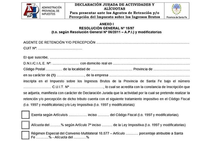 Ejemplo del formulario 1276