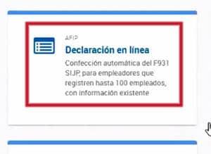 Declaración en línea del formulario 931