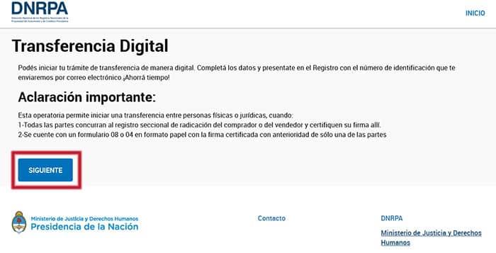Formulario 08: Ingresa al enlace del DNRPA y haz clic en Siguiente.