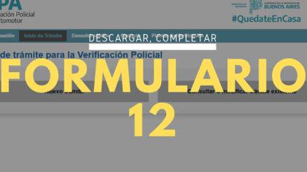 ¿Qué es el formulario 12?