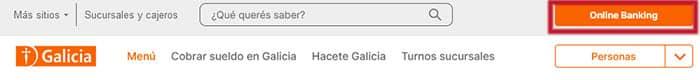 Banco Galicia Online Banking