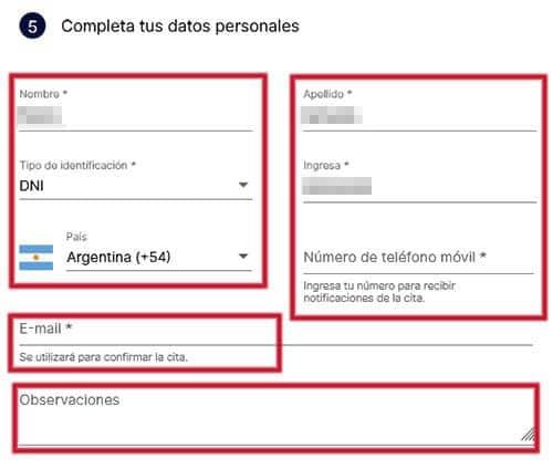Completa tus datos personales para sacar turno en Banco Macro