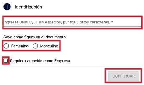Identificación para pedir turno en el Banco Macro