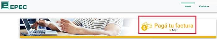 Pagar factura online en EPEC