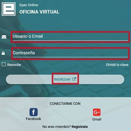 Ver factura de EPEC de forma online