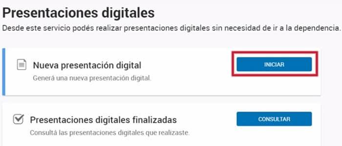 Iniciar nueva presentación digital