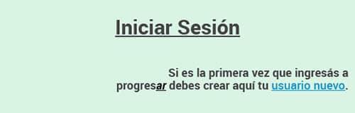 Registro para iniciar sesión en Becas Progresar