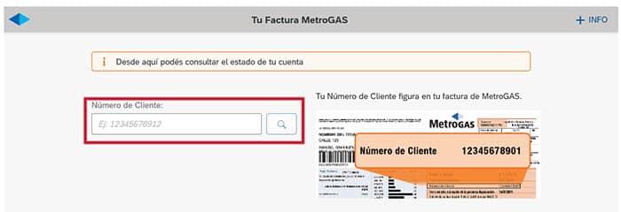 Descargar factura MetroGAS
