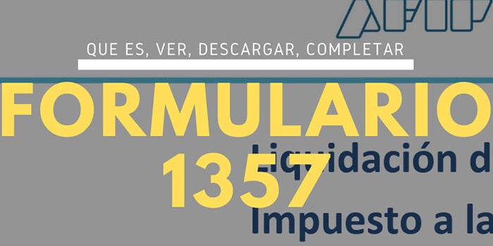 ¿Qué es y para qué sirve el formulario 1357?