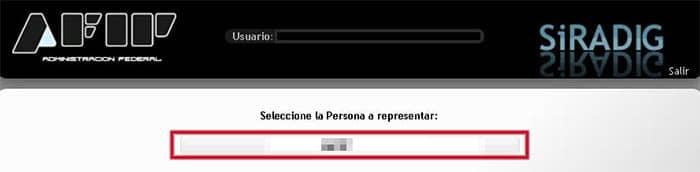 Selecciona a la persona que vas a representar en el formulario 572