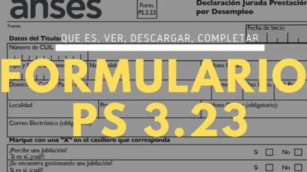 Formulario PS 3.23 de prestación por desempleo