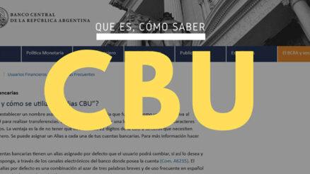 ¿Qué es el CBU?