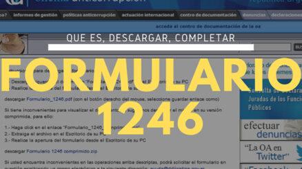 ¿Qué es y para qué sirve el formulario 1246?