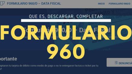 Formulario 960/D