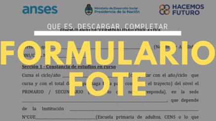 ¿Qué es y para qué sirve el formulario FOTE?