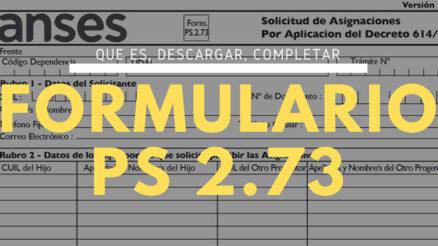 ¿Qué es y para qué sirve el formulario PS 2.73?