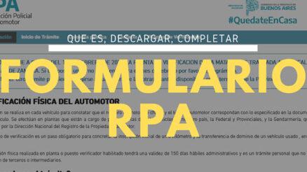 ¿Qué es y para qué sirve el formulario RPA?