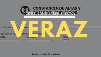 ¿Qué es el Veraz?